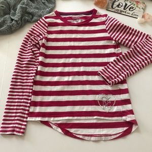 OshKosh B'gosh Barbie Pink striped tee size 8